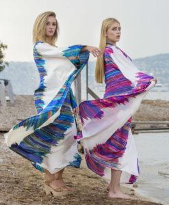 tendance-unique-robe-kenza-bleue-soie