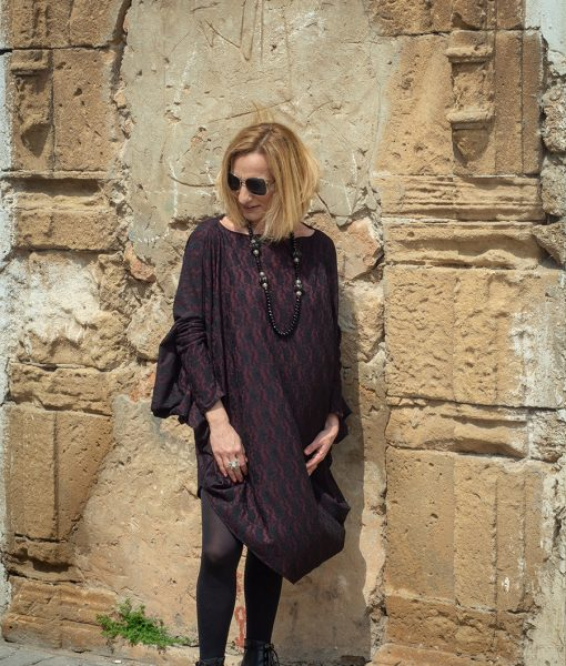 WINTER 18 – TENDANCE UNIQUE – MONACO – LACE – BURGUNDY – UNSTRUCTURED TUNIC – TUNIC