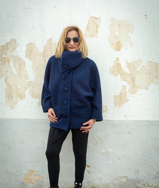 MONACO – TENDANCE UNIQUE – WINTER 18 – COAT – LYNX – BLUE