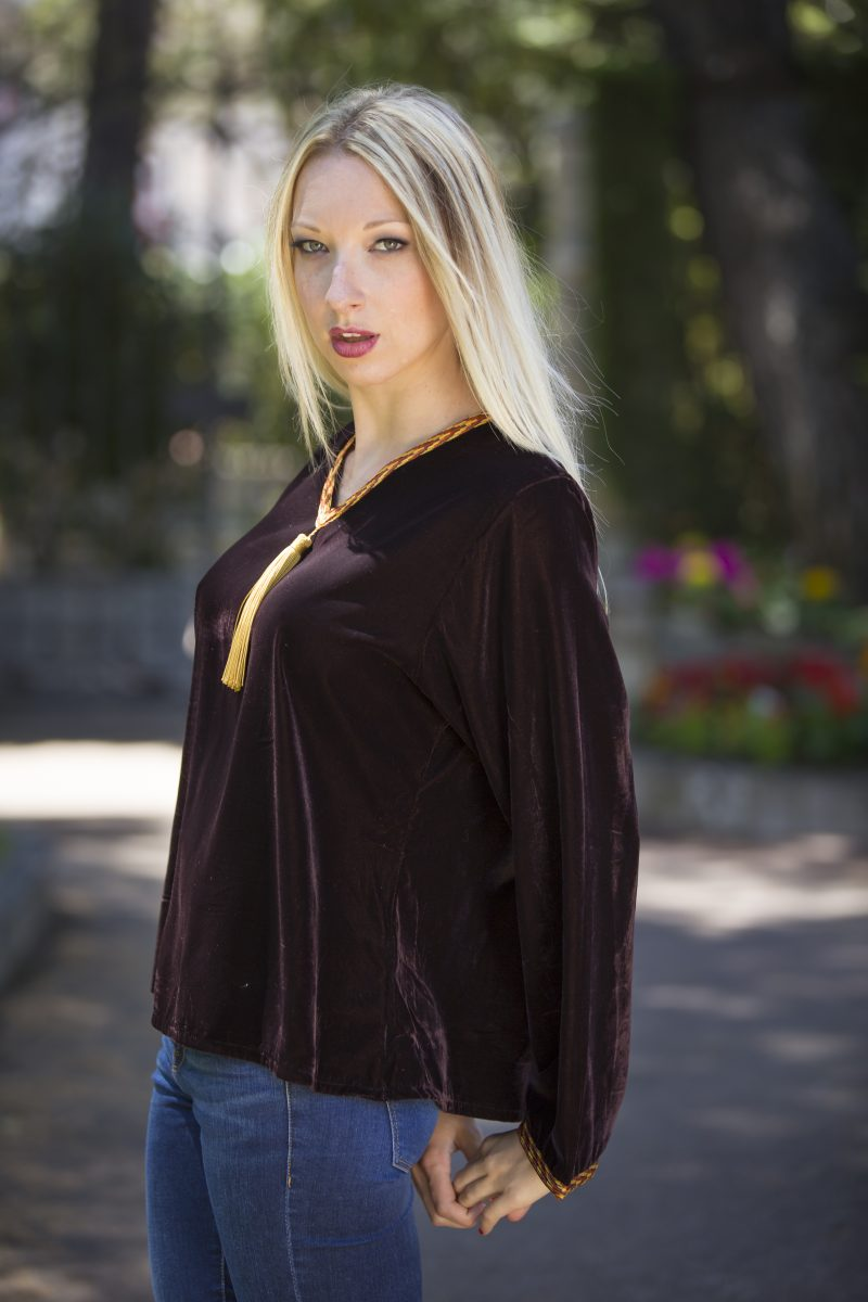 TENDANCE UNIQUE – MONTAIGNE TOP – CHOCO – VELVET