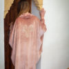 HIPPOCAMPE – MONACO – TENDANCE UNIQUE – HIVER 2018 – PONCHO – PONCHO OVERSIZE – VELOURS ROSE